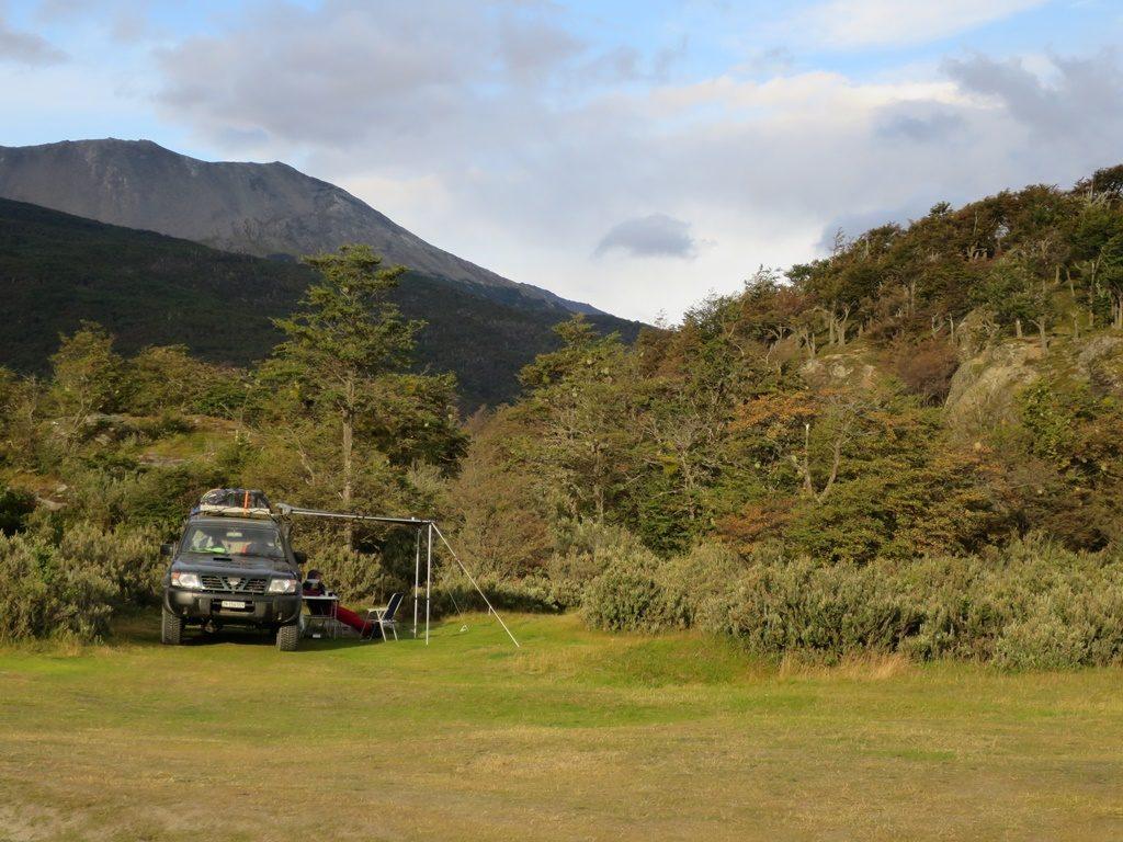 Unser Campingplatz im Tierra del Fuego Nationalpark