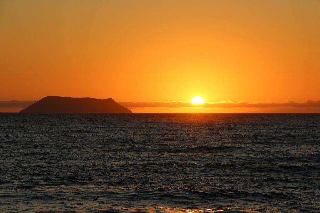 Sonnenuntergang am 1. Tag