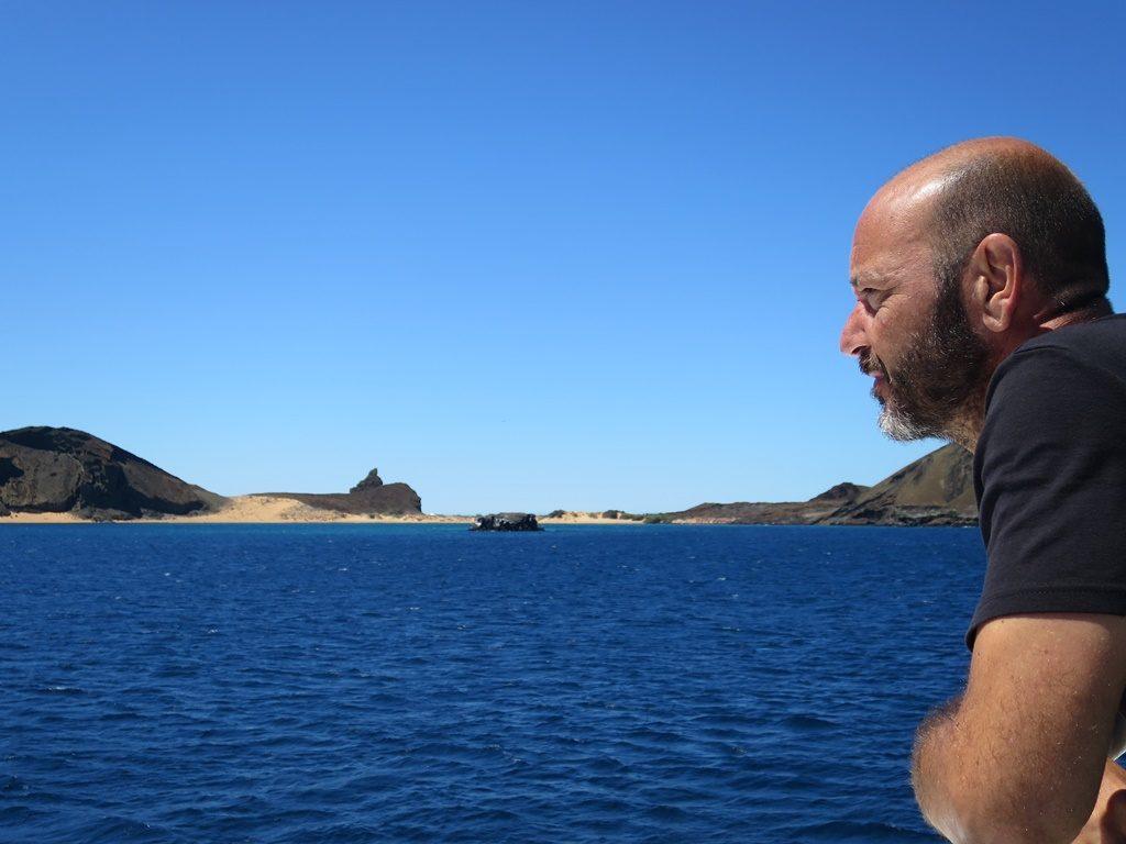 Anfahrt zur Insel Bartolomé