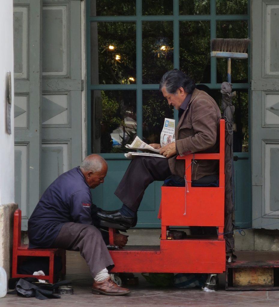 Schuhputzer in Cuenca