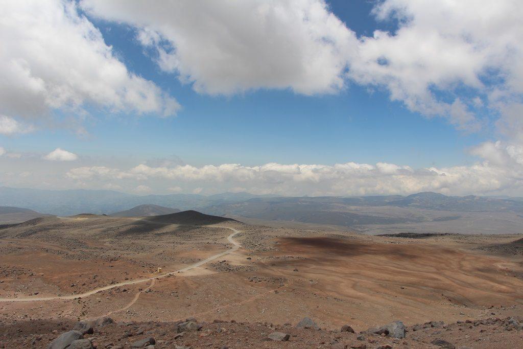Aussicht vom Vulkan Chimborazo