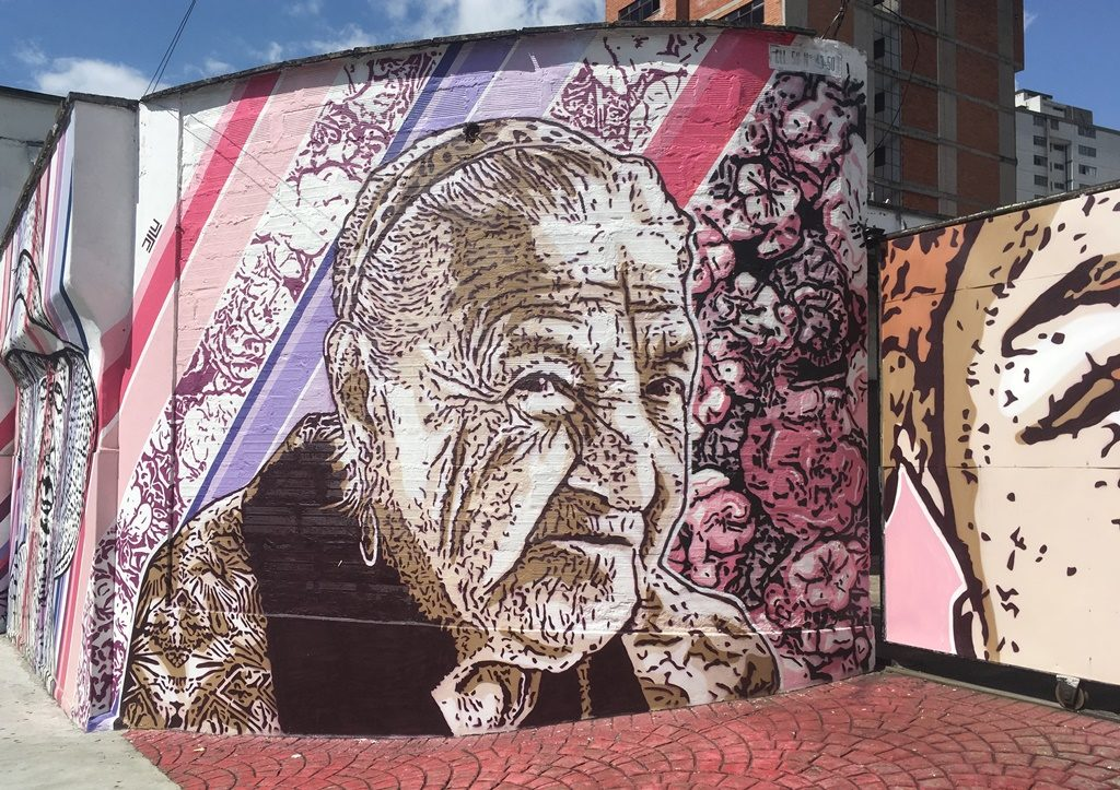 Wandgraffiti in Medellin