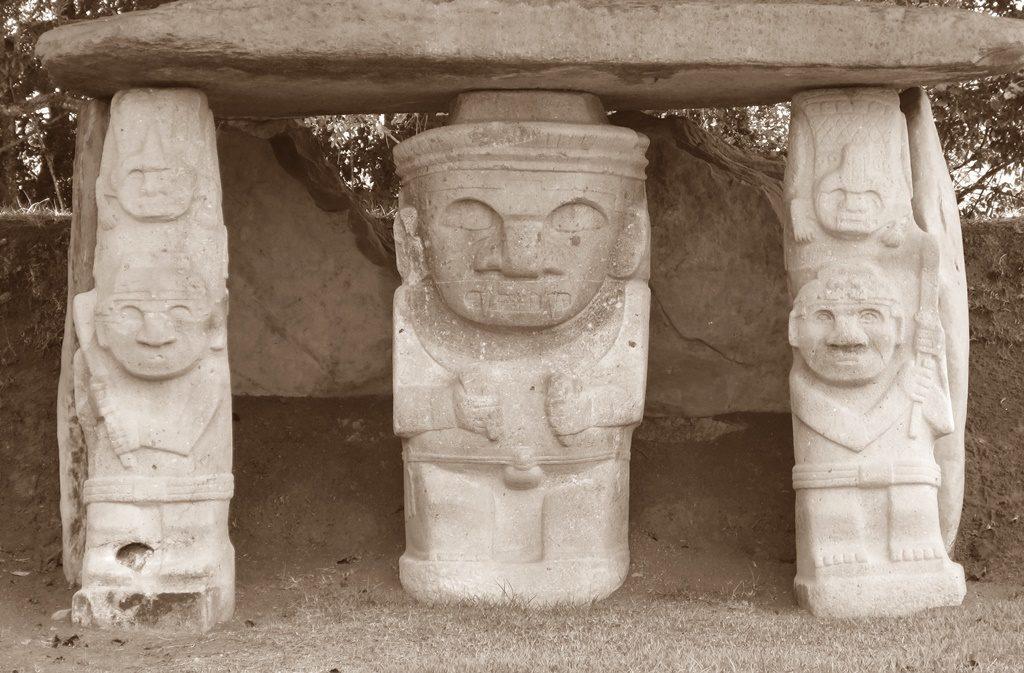 Grabstätten in San Agustin