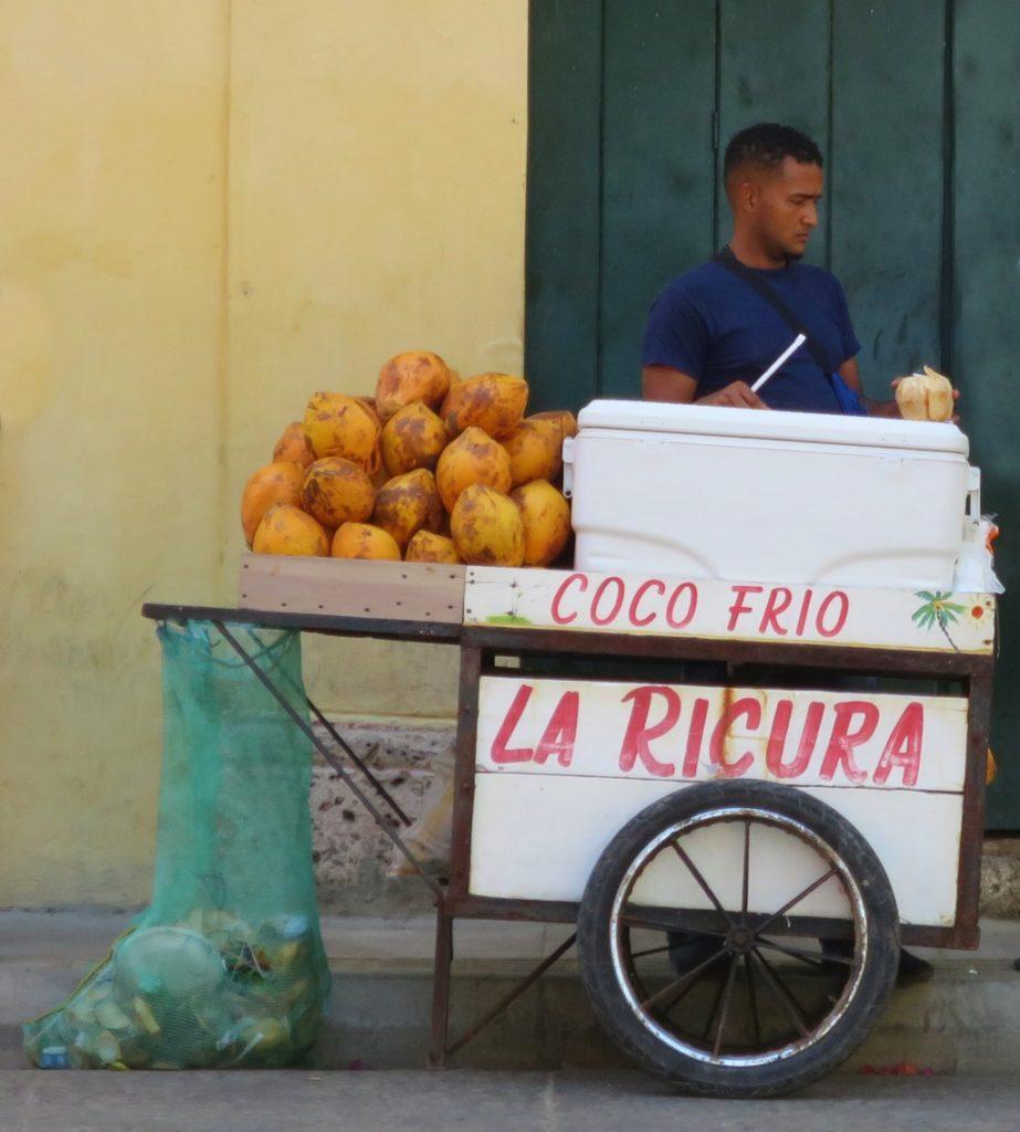 frische Kokosnüsse / Altstadt Cartagena