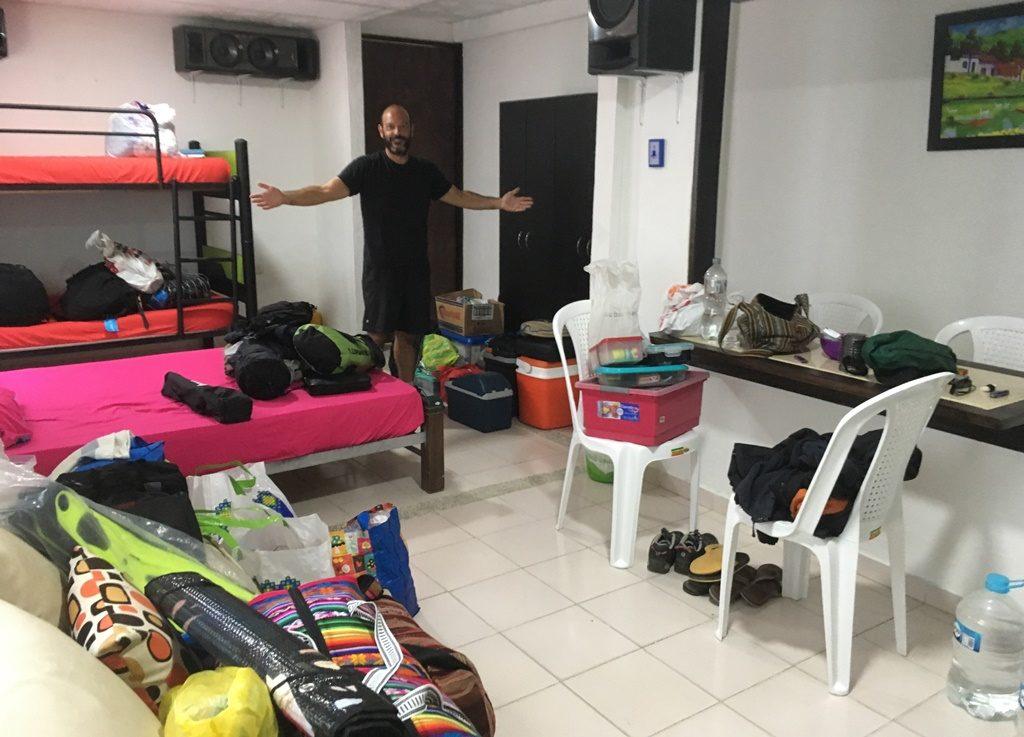 Schlachtfeld in unserer Wohnung in Cartagena