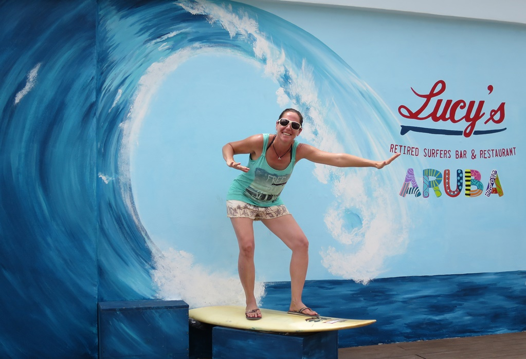 Surfing in Aruba